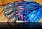DEDRIFTERS  |  zomersjaal, kleurenspel van wol en zijde